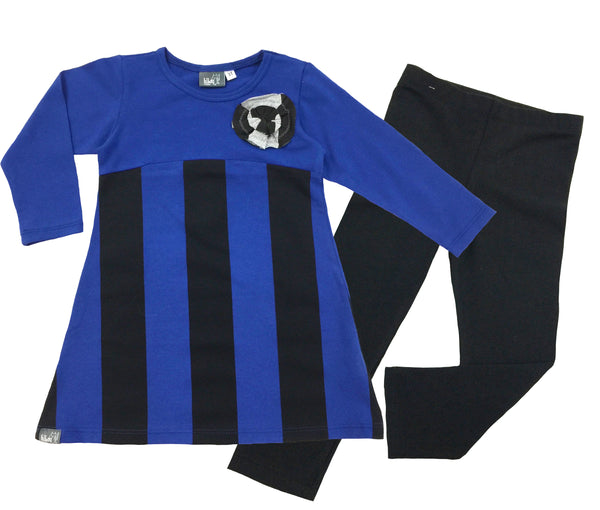 Blue Stripe Tunic and Legging Set - Hibou Clothing