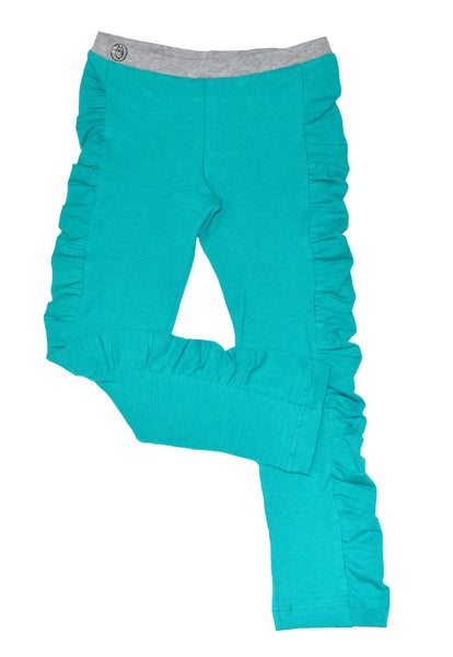 Teal Ruched Legging - Hibou Clothing