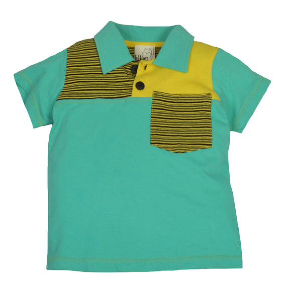 Teal Stripe Shirt - Hibou Clothing