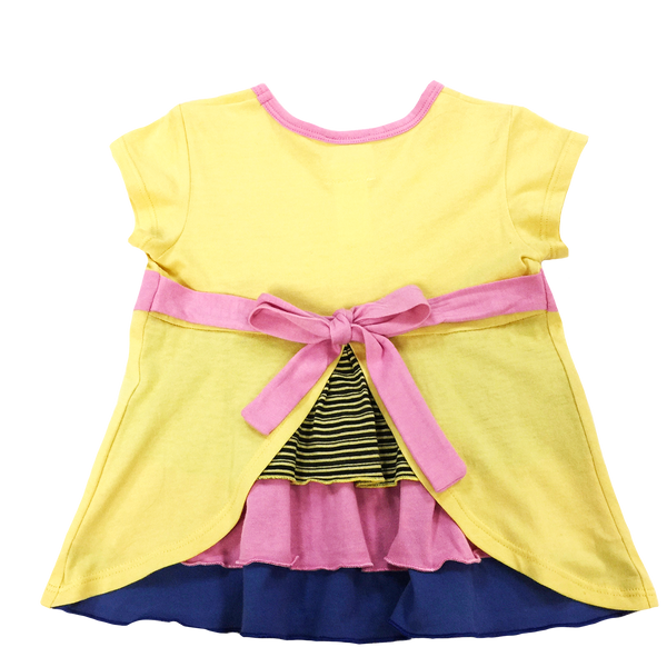 Yellow Bustle Top - Hibou Clothing
