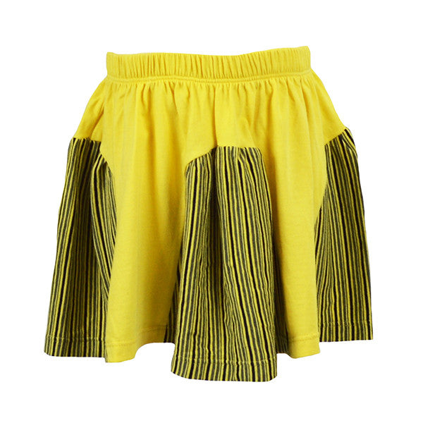 Yellow Panel Skirt - Hibou Clothing