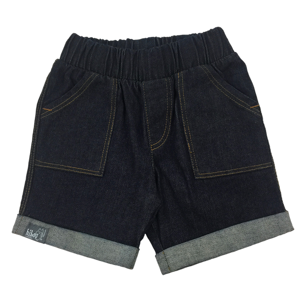 Infant Bermuda Short in Denim - Hibou Clothing
