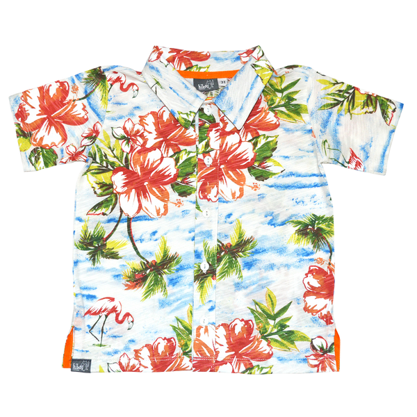 Tropical Flamingo Party Shirt - Hibou Clothing