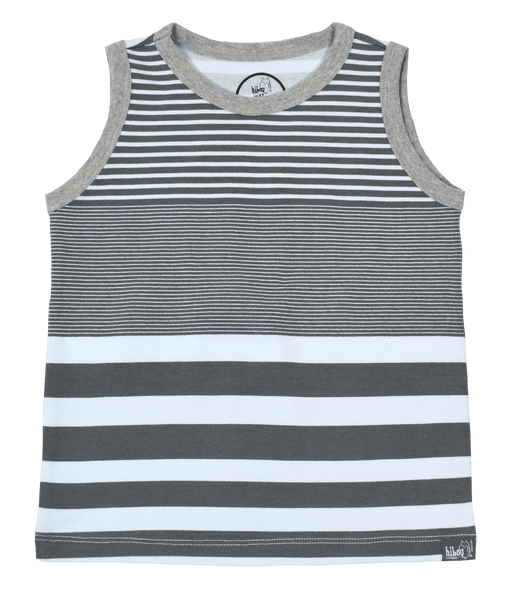 Grey Stripe Party Tank - Hibou Clothing