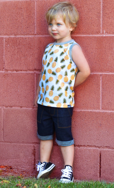Yellow Pineapple Party Tank - Hibou Clothing