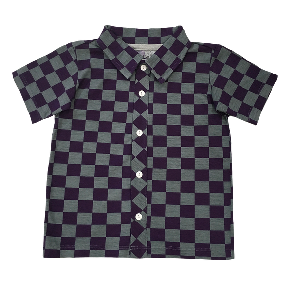 Checker Party Shirt - Hibou Clothing