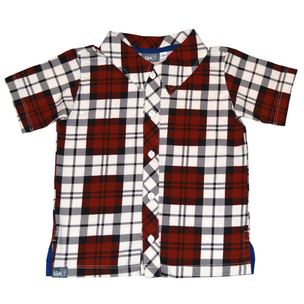 Red Plaid Party Shirt - Hibou Clothing