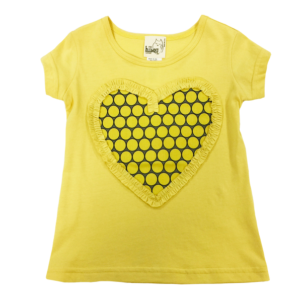 Yellow Heart Top - Hibou Clothing