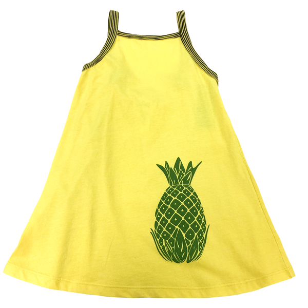 Yellow Pineapple Tank Dress - Hibou Clothing
