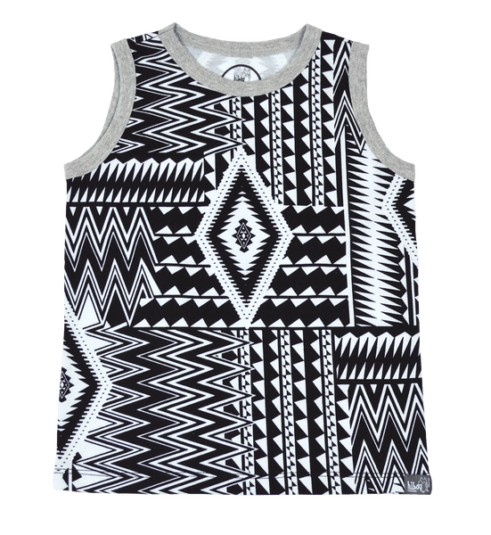 Zig Zag Party Tank - Hibou Clothing