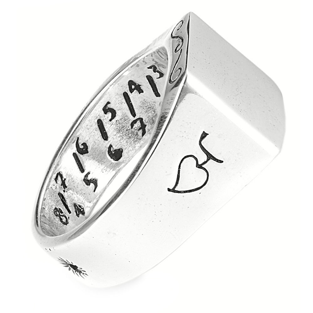Mariners Sundial Crest Ring in Sterling Silver