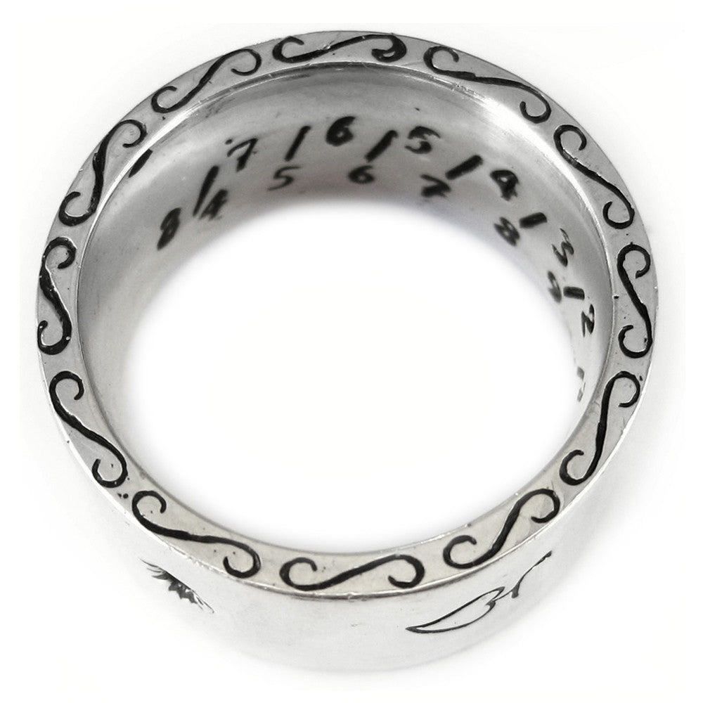 Mariners Sundial Band in Sterling Silver