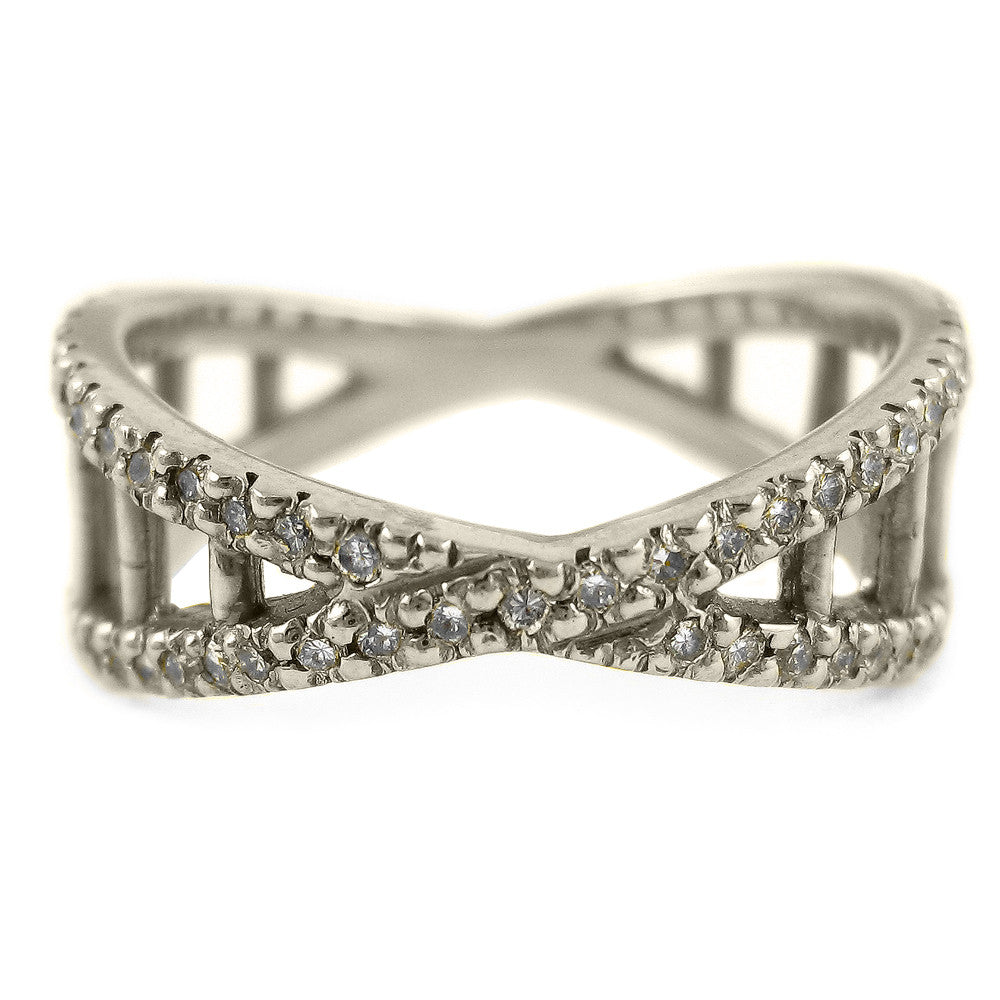 Small Double Helix Diamond Unity Band