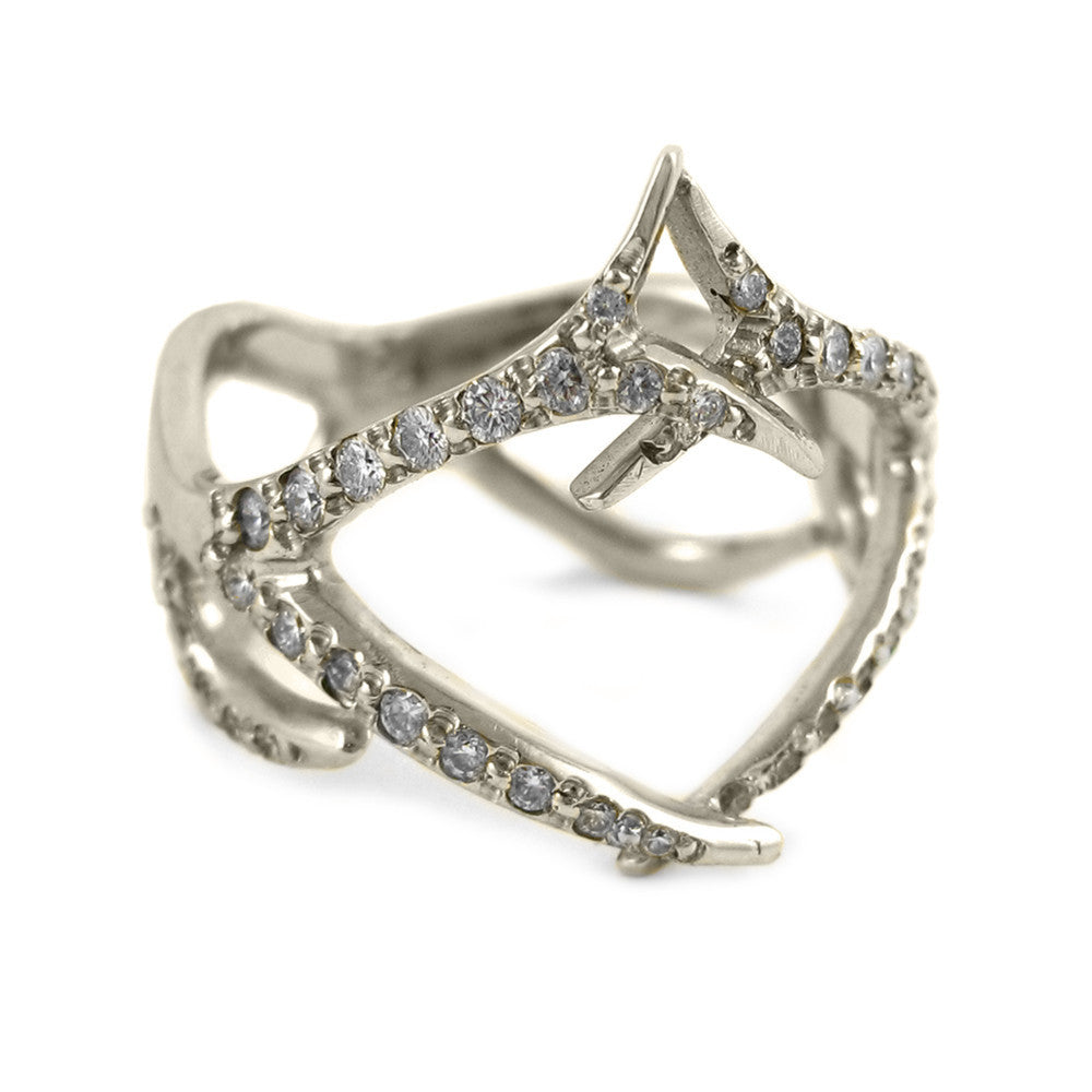Royal Double Antler Band with Diamonds