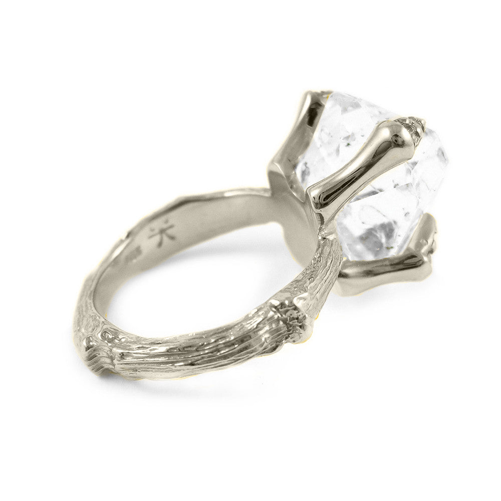 Quartz Crystal Eagle Talon Engagement Ring