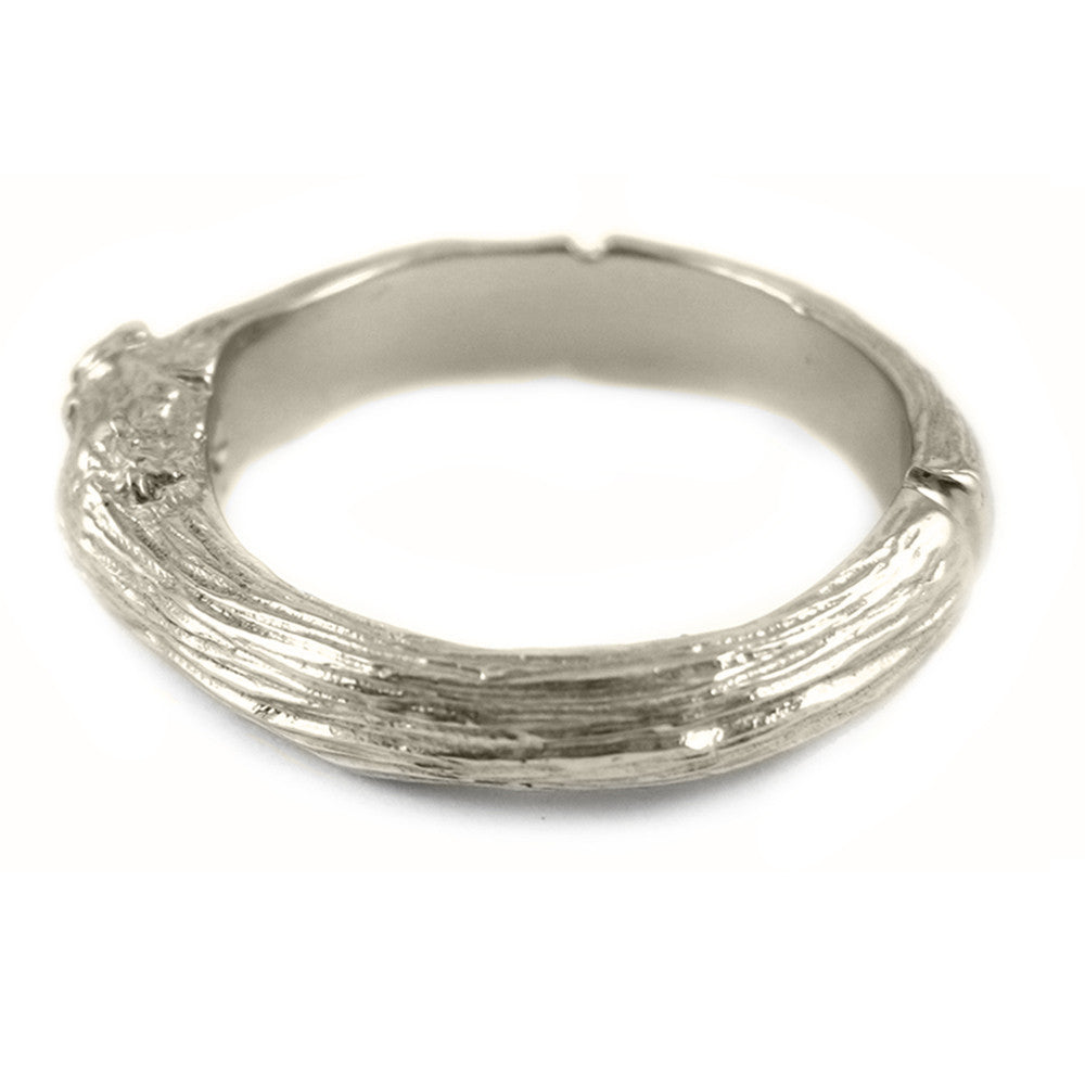 Large Twig ring in 18k white gold.