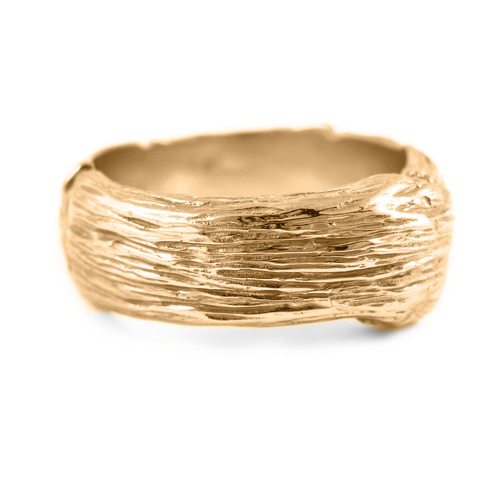 Gents extra-large Twig ring in 18k rose gold
