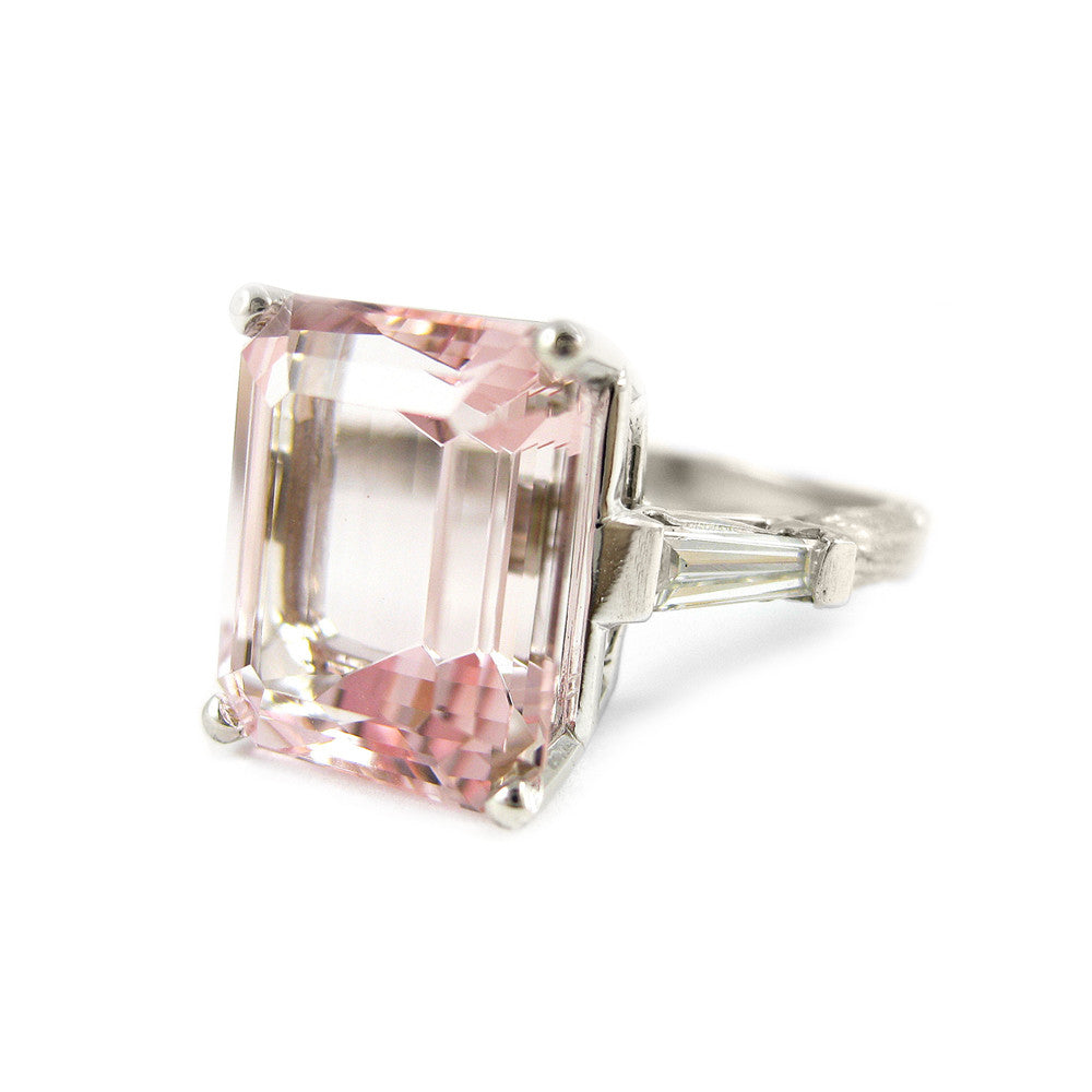 ring morganite diamond gold bridge jewelry rose ben jeweler