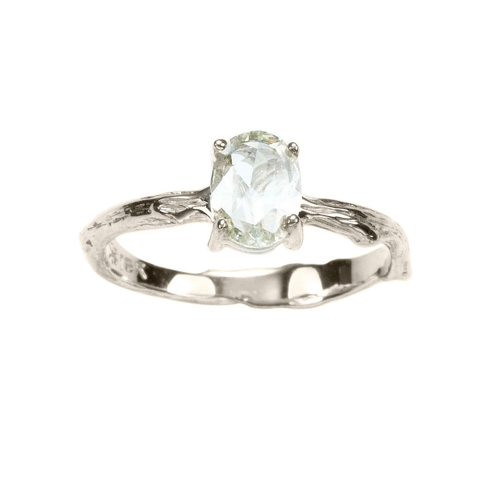 Beloved Rose Cut Diamond Sage Engagement Ring