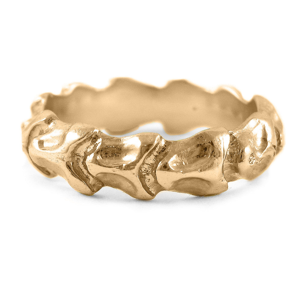 Small Vertebrae Wedding Band