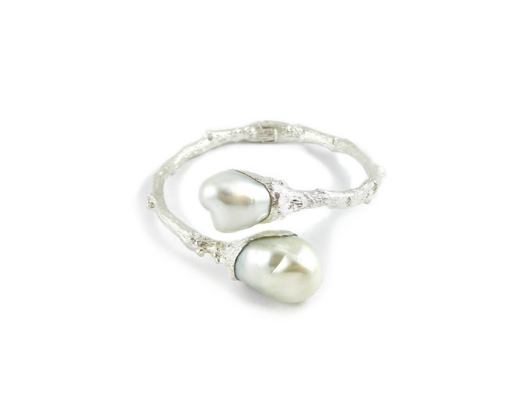 Bypass Twig Bracelet with South Sea Pearls