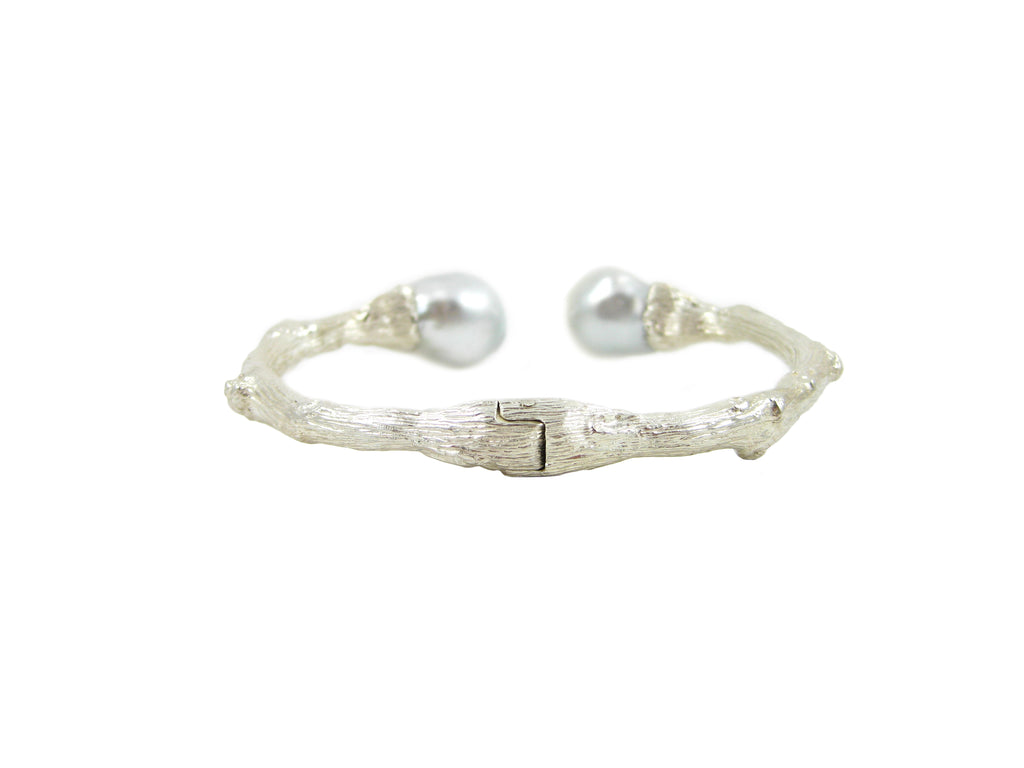 Torque Twig Cuff with South Sea Pearls