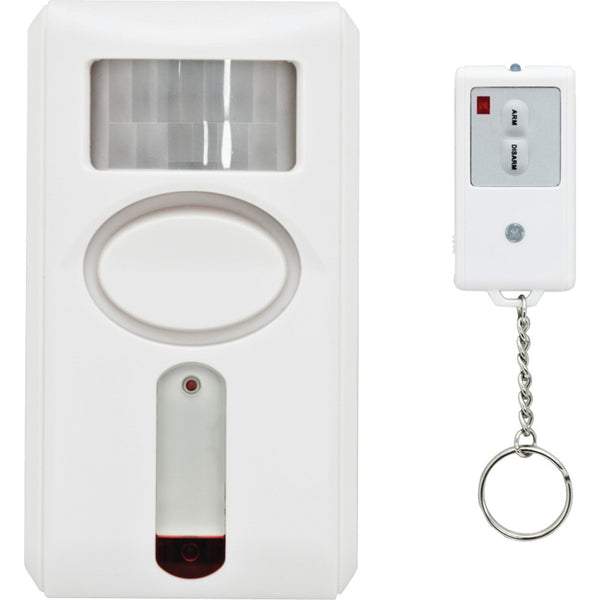 GE 51207 120dB Motion-Sensing Alarm with IR Keychain Remote