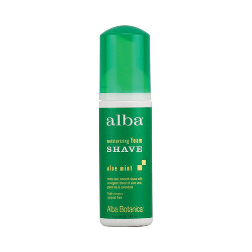 2017 Hot Sale Alba Botanica Moisturizing Foam Shave Aloe Mint for Ladies - 5 fl oz New Arrival