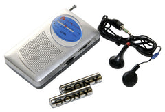 Am/Fm Radio w/headphones and batteries
