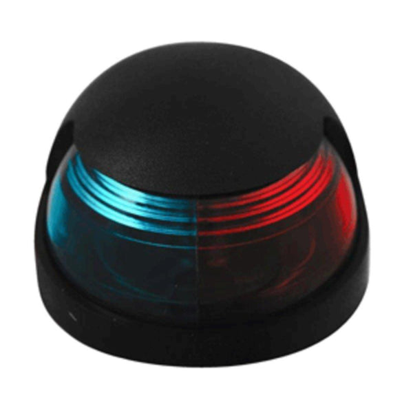 Attwood Quasar™ 2-Mile Deck Mount, Bi-Color Red-Green Combo Sidelight - 12V - Black Housing