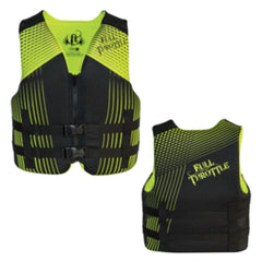 Full Throttle Rapid-Dry Life Vest - Youth 50-90lbs - Black-Green