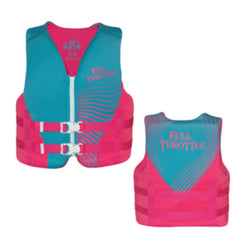 Full Throttle Rapid-Dry Life Vest - Youth 50-90lbs - Blue-Pink