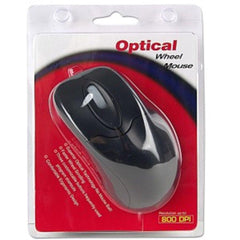 3-Button USB Optical Scroll Mouse (Black) - Retail Hanging Package