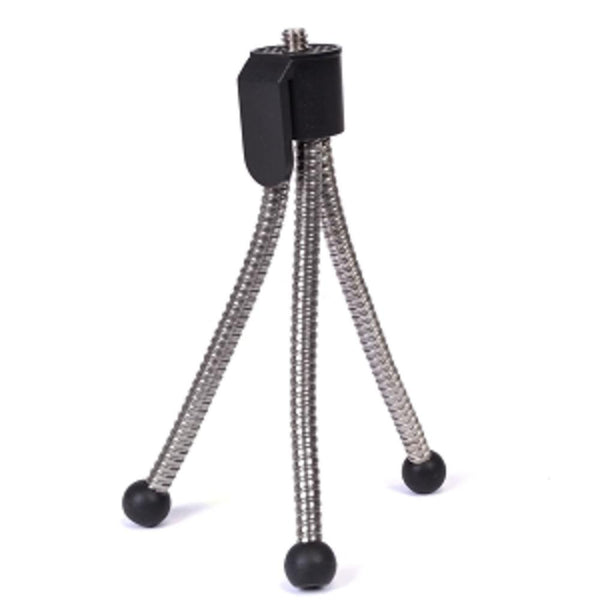 5 Compact Tripod for Digital Cameras & Camcorders (Silver-Black)