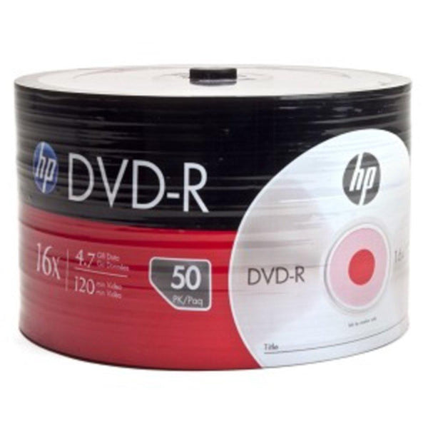 HP 16x 4.7GB 120-Minute DVD-R Media 50-Piece Spindle