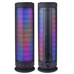 Color Dancing Portable Bluetooth Speaker (9.25 Tall) w-LED Visual Equalizer 3.5mm Audio Input & microSDHC Card Slot