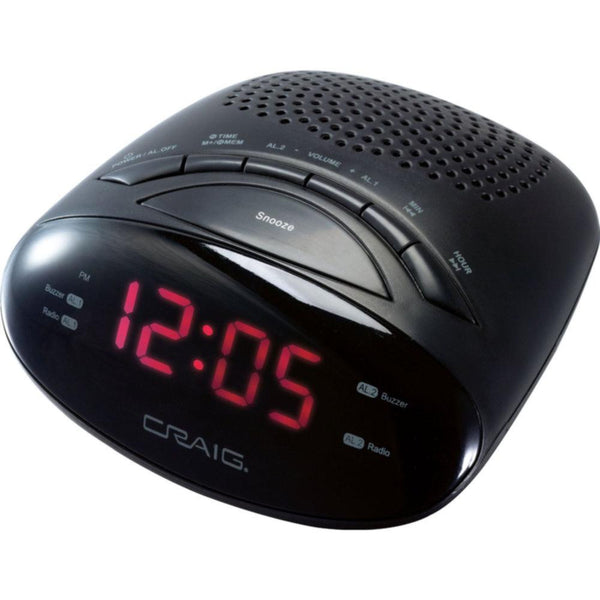 Craig LED AM-FM Alarm Clock Radio