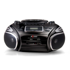 Axess Portable AM-FM Radio, CD-MP3 Player, USB-SD & Cassette Recorder Boombox