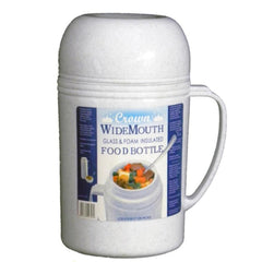 Brentwood 0.5L Wide Mouth Glass Vacuum-Foam Insulated Food Thermos