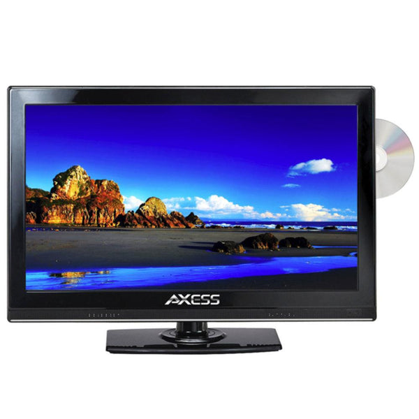 Axess 15.4 LED AC-DC TV with DVD Player Full HD with HDMI, SD card reader and USB