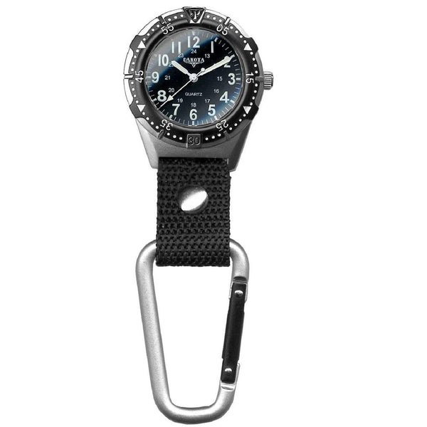 Dakota Mens Aluminum Backpacker Clip Watch - Black