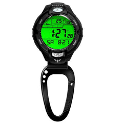 Dakota Temperature Sensor Clip Watch - Black