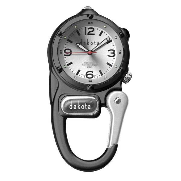 Dakota Mini Clip with Microlight - Black-Silver Dial