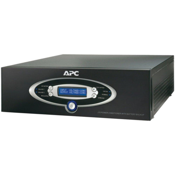 APC J10BLK 12-Outlet J-Type Power Conditioner with Battery Backup (Black; 3,200 Joules; 1,000VA; 600 Watts)