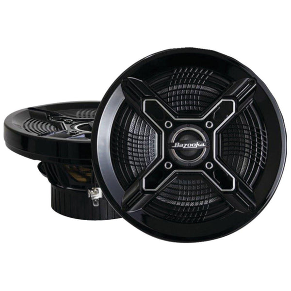 BAZOOKA MAC6510B Marine Coaxial Speakers (6.5, Black)