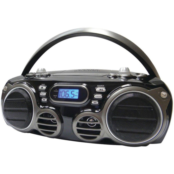 SYLVANIA SRCD682BT Bluetooth(R) Portable CD Radio Boom Box with AM-FM Radio