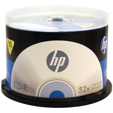 HP CR52050CB 52x CD-Rs, 50-ct Cake Box Spindle