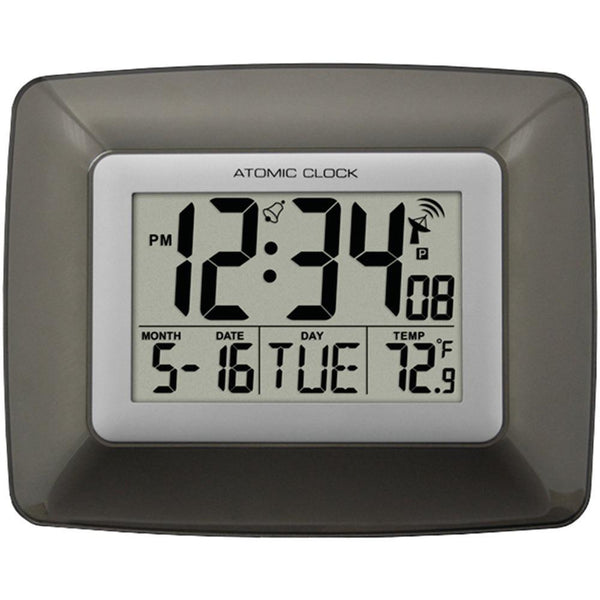 LA CROSSE TECHNOLOGY WS-8008U Atomic Digital Wall Clock with Indoor Temperature