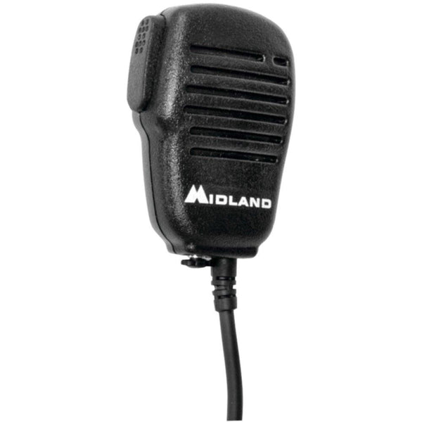 MIDLAND AVPH10 Handheld-Wearable Speaker Microphone with Push-to-Talk for GMRS Radios