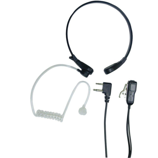 MIDLAND AVPH8 2-Way Radio Accessory (Acoustic Throat Microphone for GMRS Radios with PTT-VOX Compartment)
